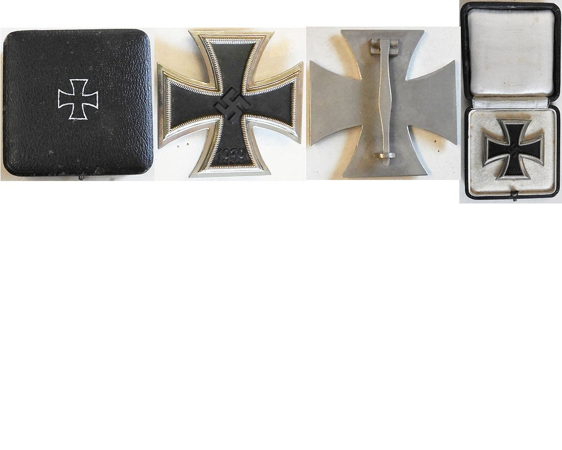 FM0641. IRON CROSS 1st Class 1939, polished nickel frame
