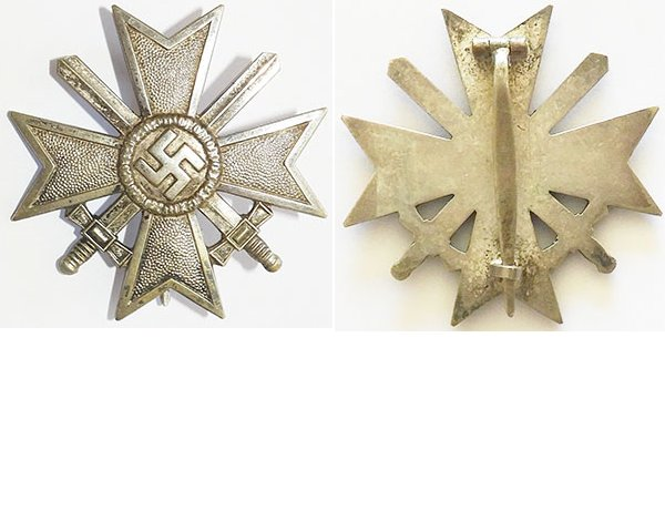 FM0642. WAR MERIT CROSS 1st Class 1939 with swords - maker 62