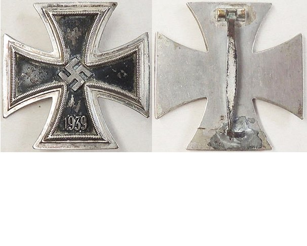 FM0643. IRON CROSS 1st Class 1939 - Unmarked, some wear