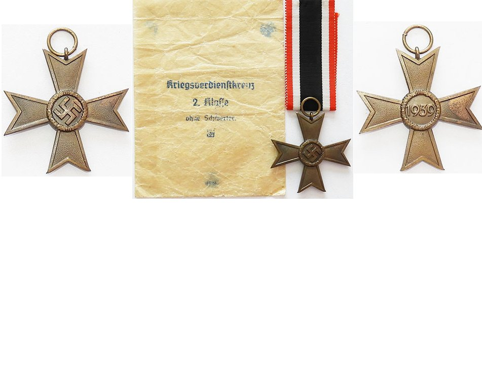 FM0327. WAR MERIT CROSS 2Cl 1939 without swords, cellophane pack
