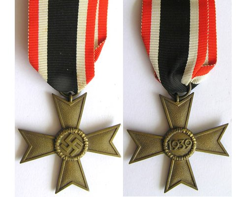 FM0328. WAR MERIT CROSS 2nd  Class 1939 without swords