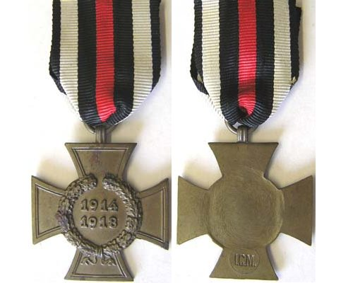 FM0331. 1914/18 CROSS OF HONOUR without swords