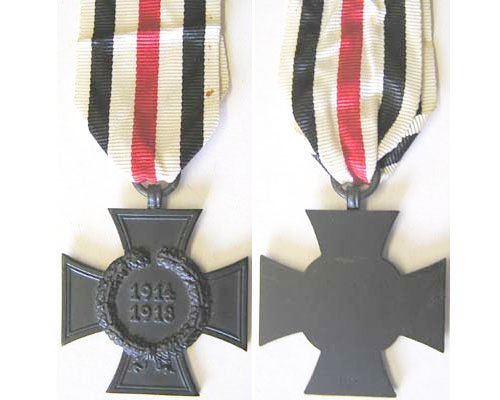 FM0332. 1914/18 CROSS OF HONOUR in black for Next of Kin