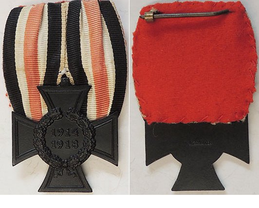 FM0664. 1914/18 CROSS OF HONOUR in black for Next of Kin