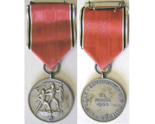 FM0665. COMMEMORATIVE MEDAL OF 13 MARCH 1938
