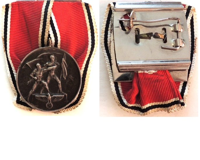 FM0665a. COMMEMORATIVE MEDAL OF 13 MARCH 1938, mounted for wear
