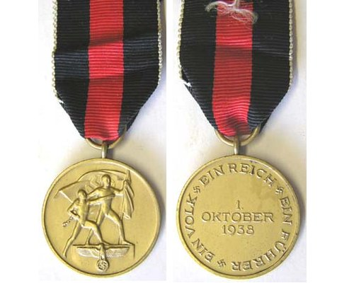 FM0667. COMMEMORATIVE MEDAL OF 1 OCTOBER 1938