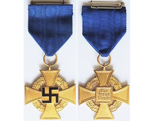 FM0685. FAITHFUL SERVICE CROSS 1st Class, in gold