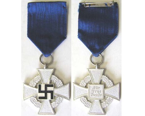 FM0687. FAITHFUL SERVICE CROSS, 2nd Class in silver