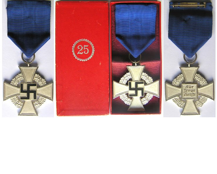 FM0688. FAITHFUL SERVICE CROSS 2nd Class in silver with box
