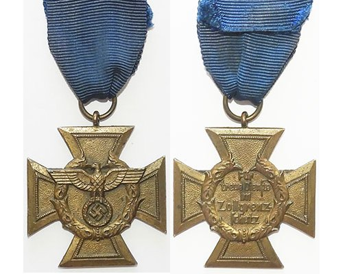 FM0692a. CUSTOMS PROTECTION HONOUR DECORATION