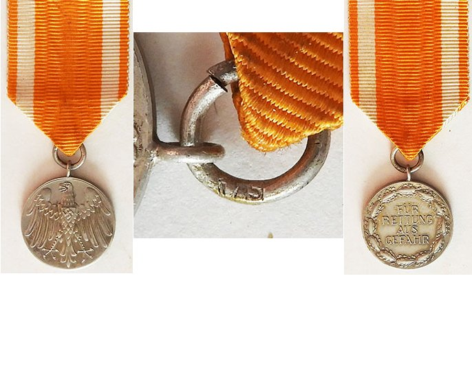 FM0700. GERMAN LIFESAVING MEDAL 1937, small silver medal