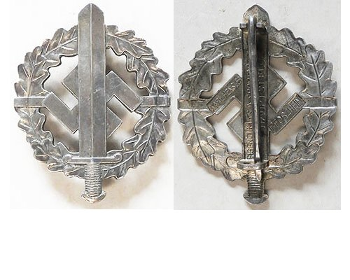 FM0750a. COASTAL ARTILLERY BADGE, late war zinc issue