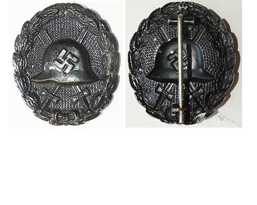 FM0760a. WOUND BADGE 1936 in black, pressed type
