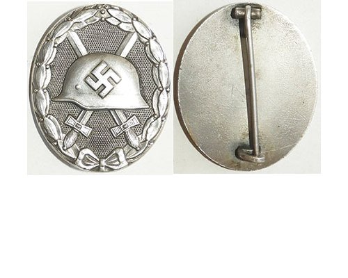 FM0764. WOUND BADGE 1939 silver, silvered brass, without maker