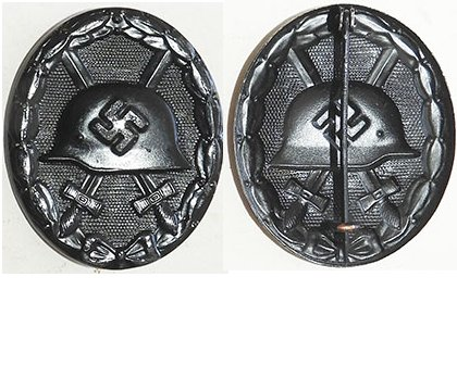 FM0769. WOUND BADGE 1939 in black, painted steel