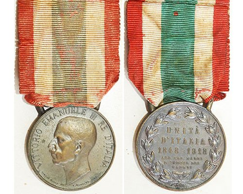 FM0805. UNITED ITALY MEDAL 1848-1918