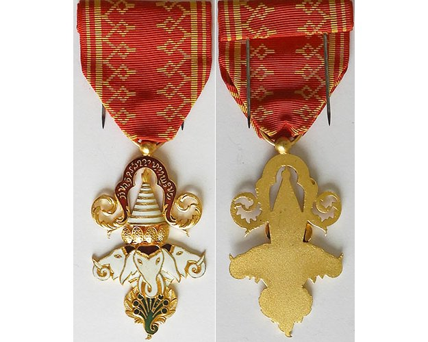 FM0827. LAOS ORDER OF MILLION ELEPHANTS AND WHITE PARASOL