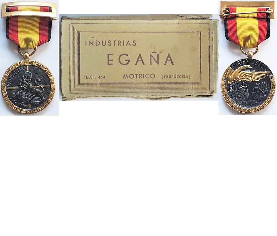 FM0890. SPAIN CIVIL WAR MEDAL 1936, For The Vangard