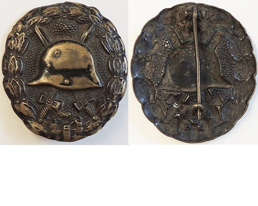 FM0625. 1914 WOUND BADGE IN BLACK, pressed brass