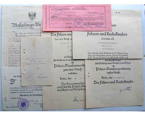FM0621. FIVE AWARD DOCUMENTS & OTHERS TO POLICE OFFICER