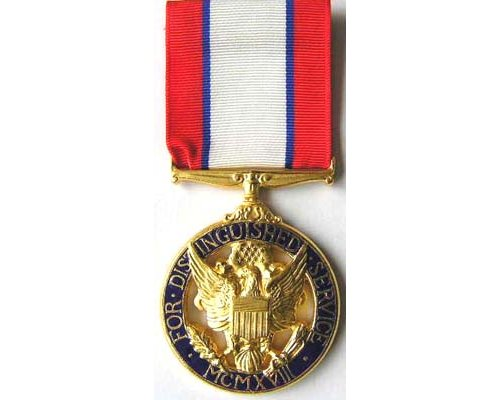 FM0903. DISTINGUISHED SERVICE MEDAL (ARMY) in case with miniatur