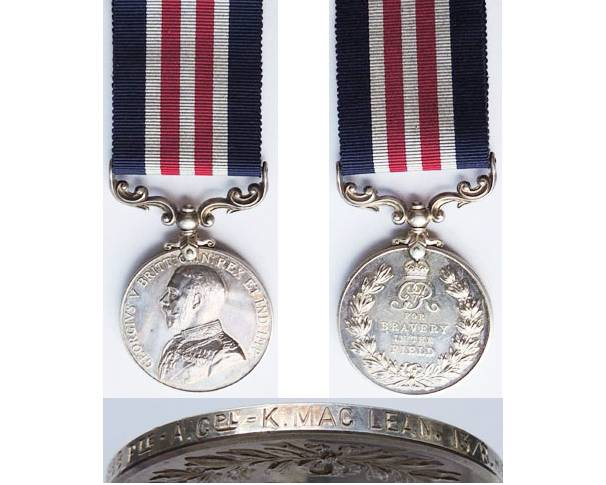 GAL020. MILITARY MEDAL GVR - 315388 PTE. K MACLEAN, 13.R.Highrs