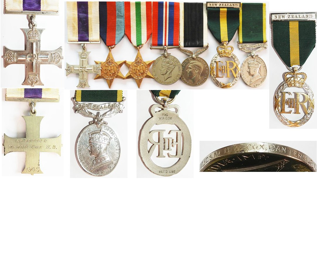 GAL013 . MILITARY CROSS GROUP OF SEVEN - 23 Bn NZEF 1945