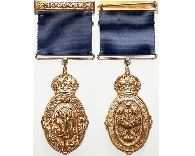 GAL015. KAISAR-I-HIND MEDAL	KING GEORGE VI, 3rd Class bronze