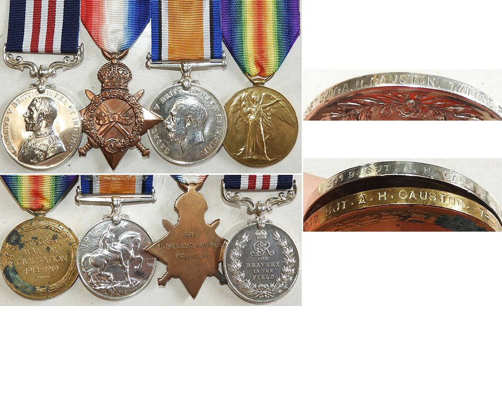 GAL020. M.M. GVR GROUP OF FOUR – Causton, 7th London Regt.