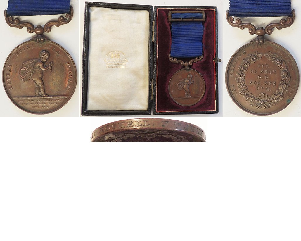GAL034. ROYAL HUMANE SOCIETY MEDAL	Bronze successful (Type II)