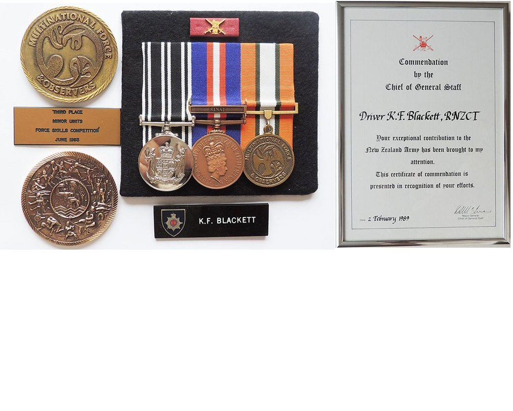 GAL045. NZA COMMENDATION FOUR - U55855 DVR. K. F. BLACKETT RNZCT