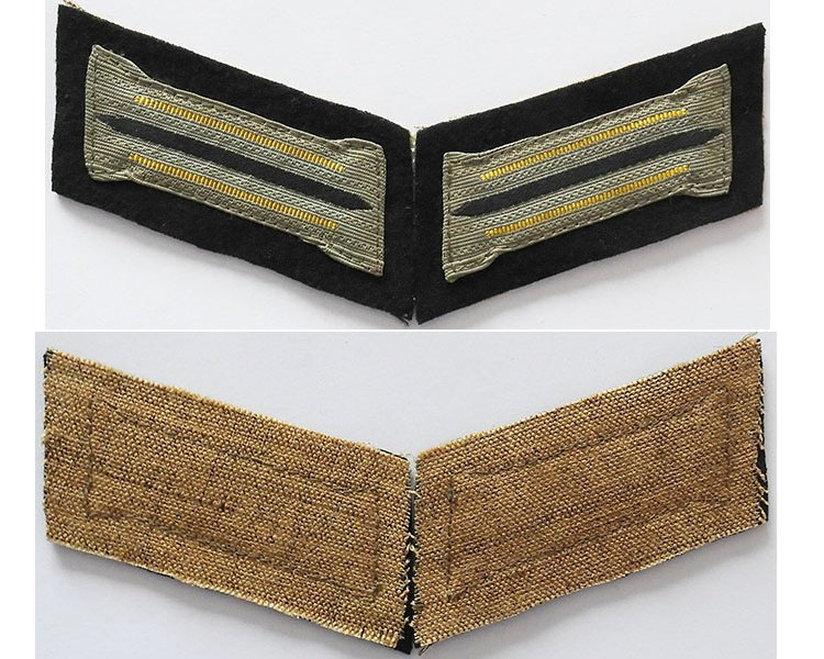 GC1215. PAIR WEHRMACHT SIGNALS SOLDIER'S COLLAR PATCHES