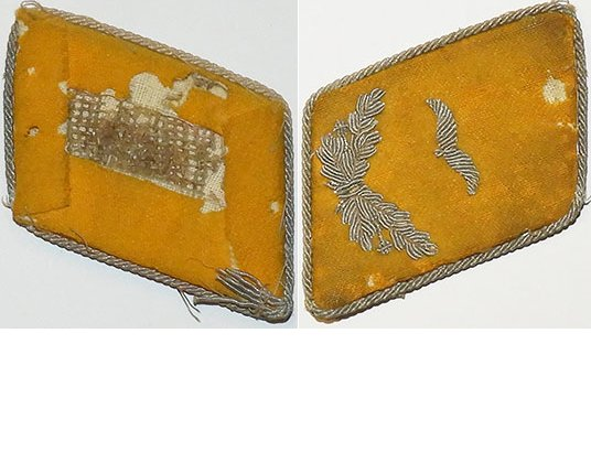 GC1413. LUFTWAFFE 2/LIEUTENANT'S COLLAR TAB - Left side, yellow