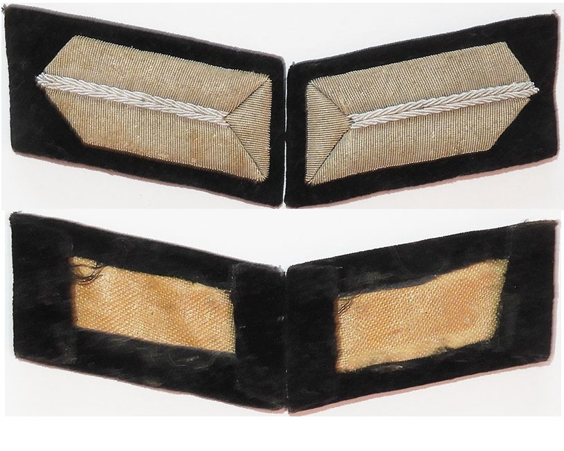 GC1511. PAIR OF GERMAN RAD OFFICER'S COLLAR TABS