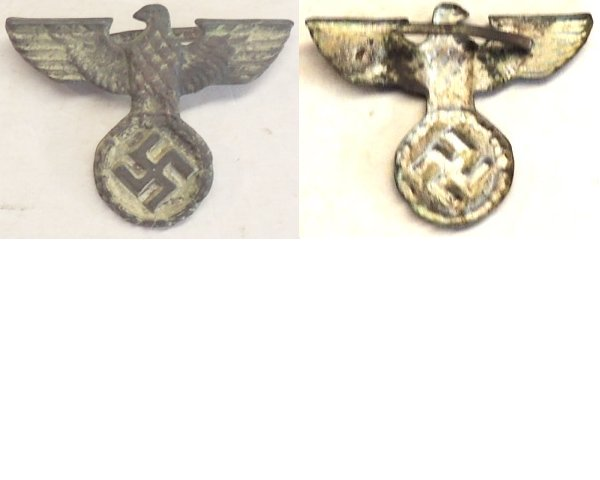 GC2112. NAZI CIVIL EAGLE, short wings, some silver finish