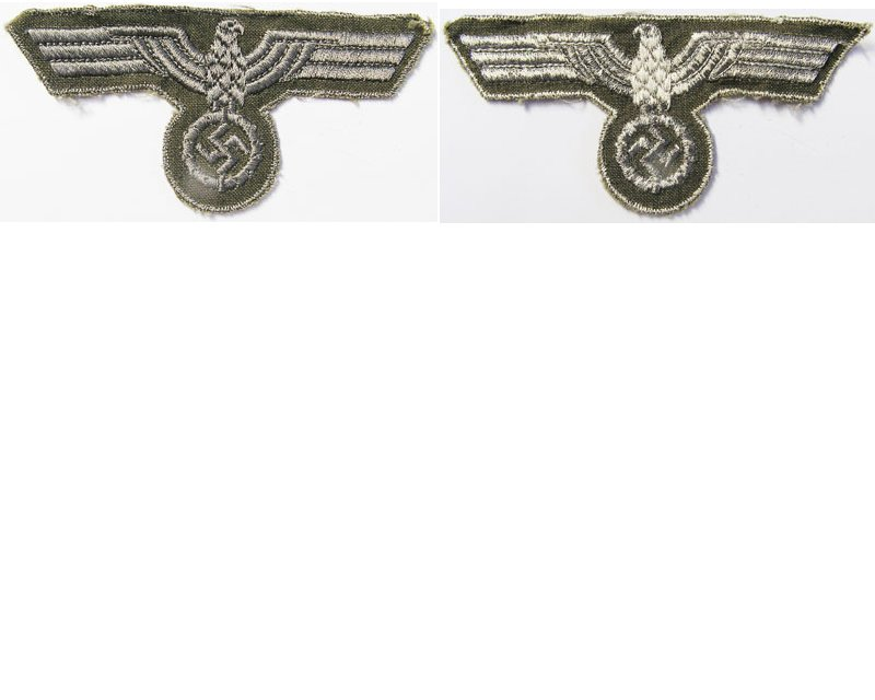 GC2152. WEHRMACHT BREAST EAGLE, late war type