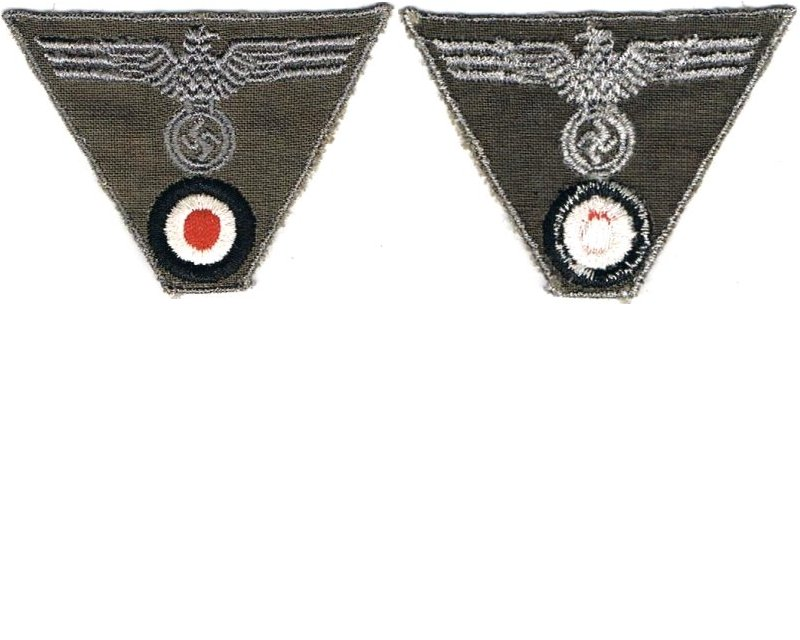 GC2169. WEHRMACHT CAP EAGLE & ROUNDEL, late war type