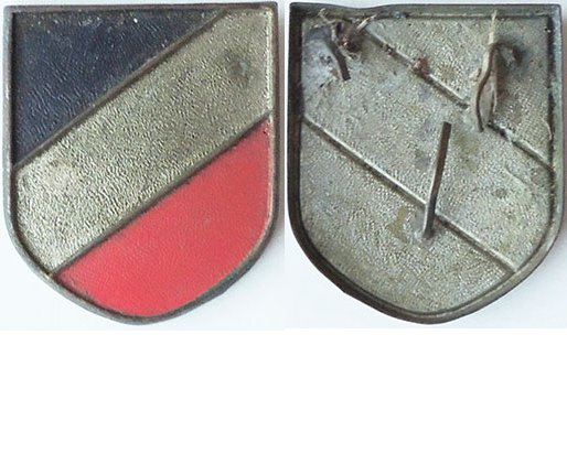 GC2208. TROPICAL HELMET NATIONAL COLOURS SHIELD, good paint