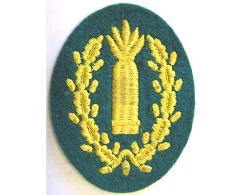 GC2303. WEHRMACHT ARTILLERY GUN LAYER Sleeve Patch