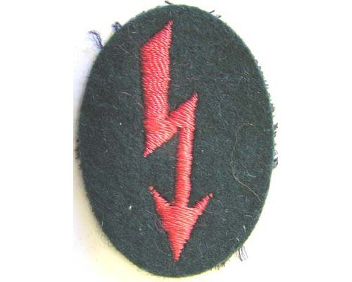 GC2307 WEHRMACHT ARTILLERY SIGNALS Sleeve Patch