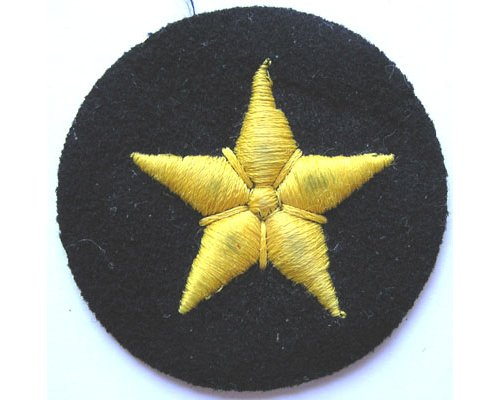 GC2350. KRIEGSMARINE LINE 3rd Class sleeve patch, yellow on blue
