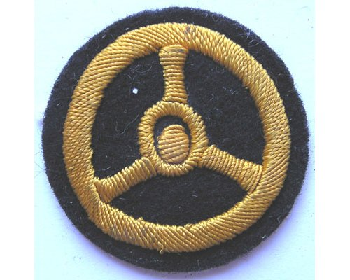 GC2354. KRIEGSMARINE MOTOR TRANSPORT, yellow on blue
