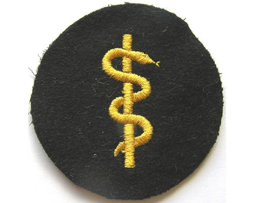 GC2356. KRIEGSMARINE SICK BERTH 3rd Class, yellow on blue