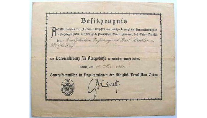 German Award Documents
