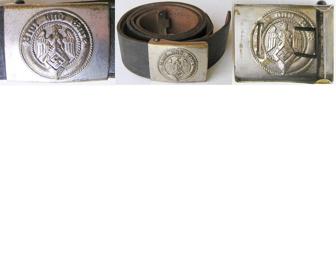 HJ1553. HITLER YOUTH BELT AND BUCKLE, Large size