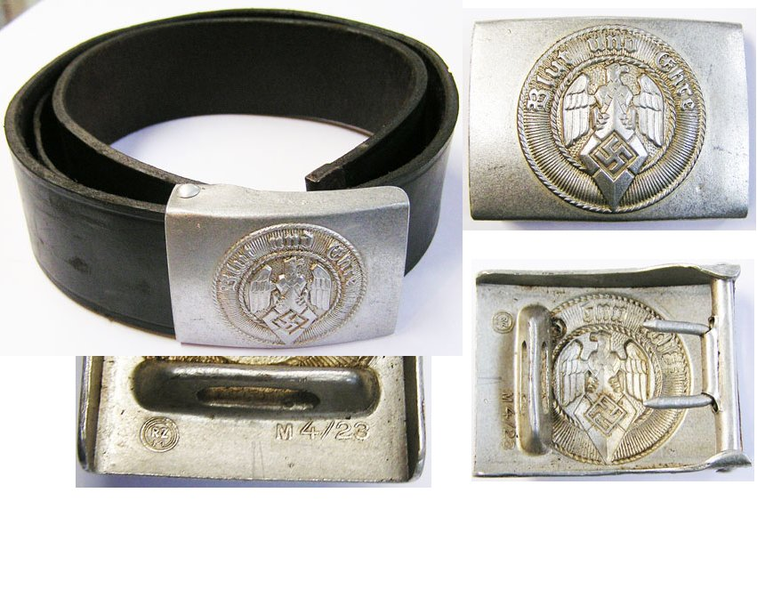 HJ1554. HITLER YOUTH BELT AND BUCKLE, RZM M4/23