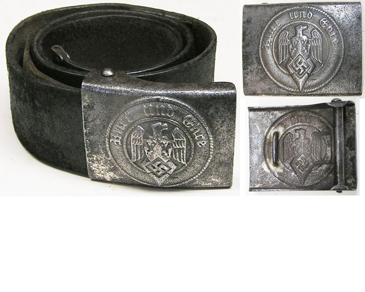 HJ1555. HITLER YOUTH BELT AND BUCKLE, small size