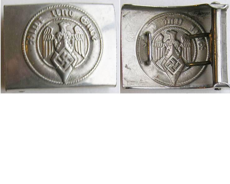 HJ1556. HITLER YOUTH BELT BUCKLE, maker M4/27