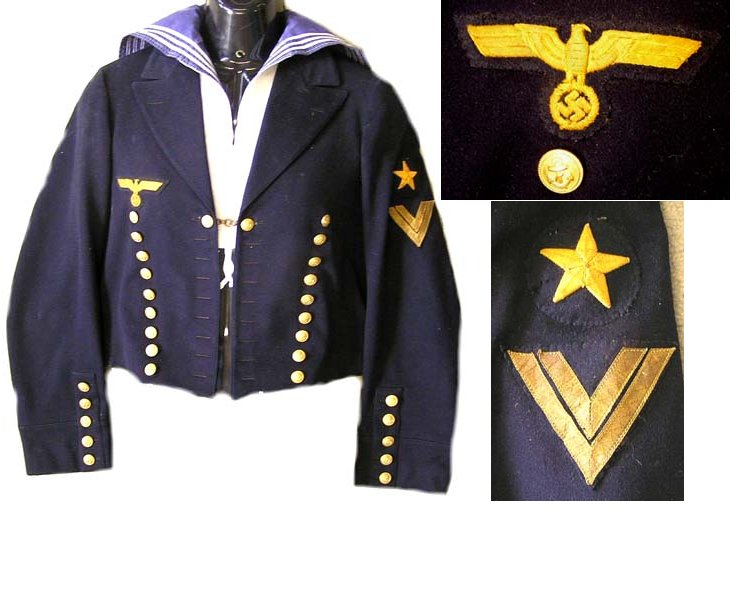KM1325. KRIEGSMARINE MATROSENOBERGEFREITER'S DRESS JACKET